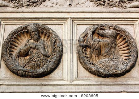 Saint Zacharias carvings