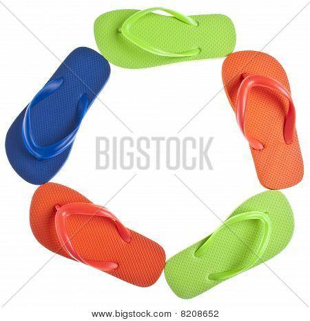 Vibrant Summer Flip Flops