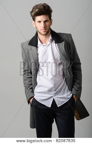 Handsome Man Wearing Coat