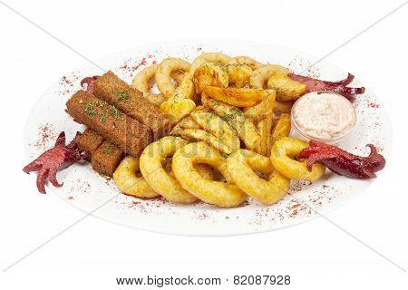 Assorted hot snacks