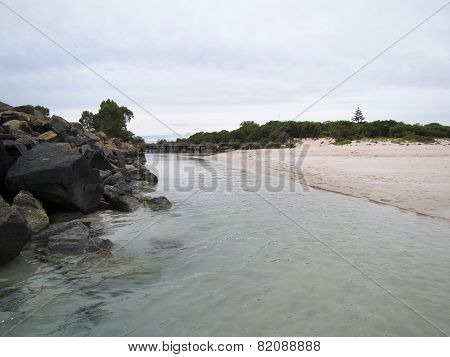 River Inlet In Busselton, South West Of Australia