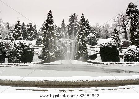 Snow At The Public Garden