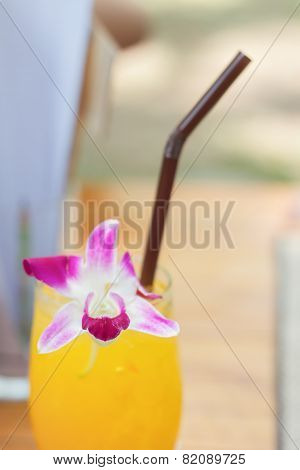 Glass Of Iced Orange Juice