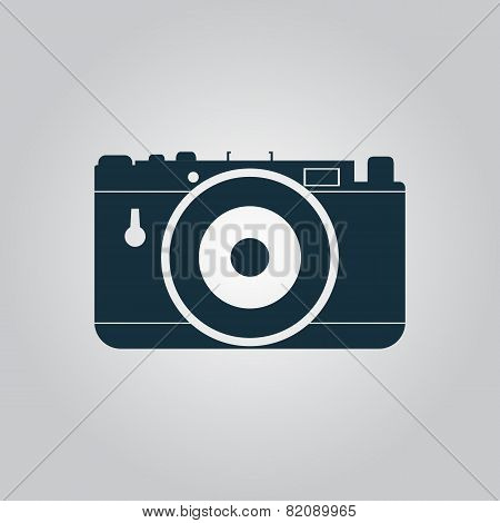 Vector photo camera icon, sign and button