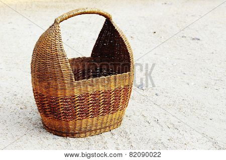 Basket From Paper On The Ground