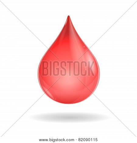 Vector red blood drop