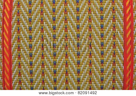 Texture of thai native weave mat