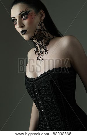 dark fetish girl studio shoot