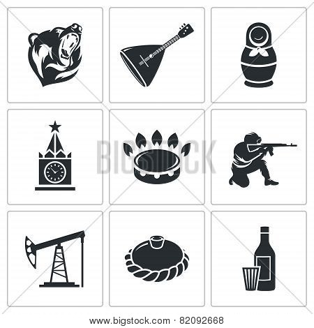 Russian World Vector Icons Set