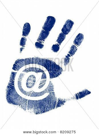 Mail Handprint / Vector