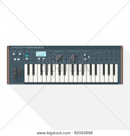 color flat style vector piano roll synthesizer vocoder