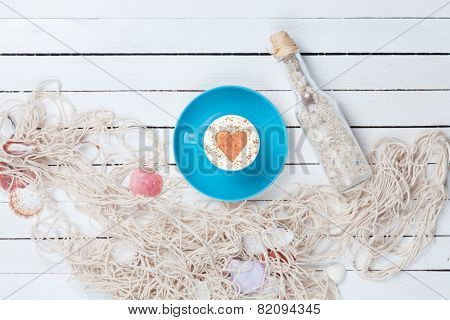 Cup  And Net With Bottle