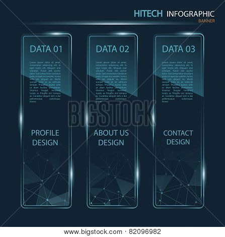 Hi-tech Banner Infographic