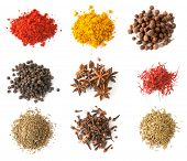 pic of chili peppers  - Set of spices  - JPG
