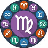 pic of virgo  - Signs of the zodiac circle  - JPG