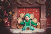 pic of christmas baby  - Christmas photoshoot for baby boy in Ukraine - JPG