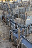 pic of reinforcing  - construction house reinforcement metal framework for concrete pouring - JPG