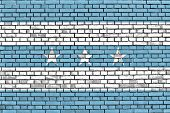 pic of guayaquil  - flag of Guayaquil painted on brick wall - JPG