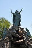 stock photo of fountain grass  - Kings Fountain at Washington Park in Albany - JPG