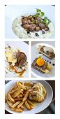 image of giblets  - Collage of various gastronomic dishes on plate - JPG