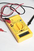 foto of multimeter  - yellow multimeter tester to test electric equipment