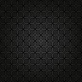 foto of octagon  - Geometric fine abstract vector pattern with black octagons - JPG