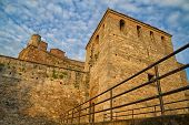 stock photo of medieval  - Baba Vida is a medieval fortress in Vidin in northwestern Bulgaria and the town - JPG