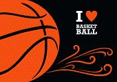 picture of basketball  - Vector background basketball theme - JPG