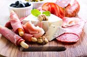 pic of catering  - Catering platter with different meat and cheese - JPG