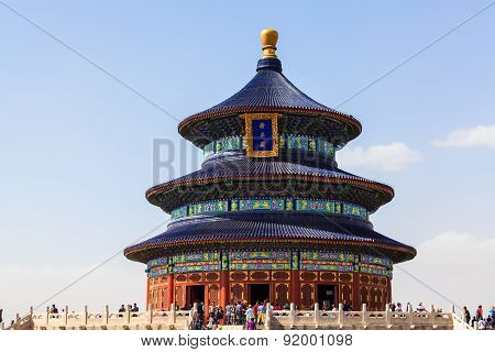 Chinese Temple Of Heaven In Beijing