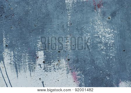 Textured Abstract Paint Stroke On Wall