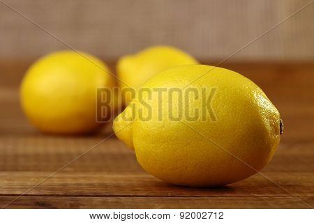 Yellow Lemon On Table
