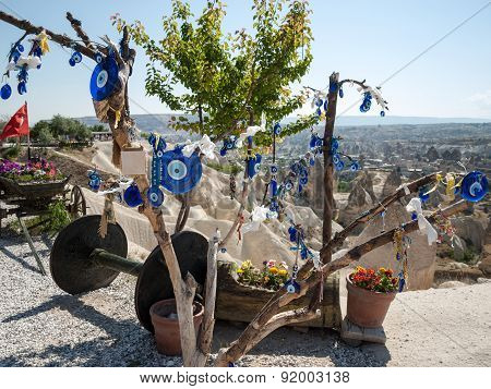 GOREME, TURKEY - JUNE 16, 2014: Love valley in Goreme national park. Cappadocia Turkey