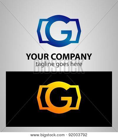 Letter g logo icon design template elements