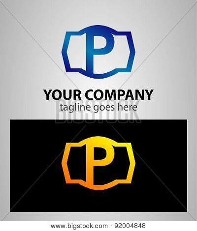 Letter p logo icon design template elements. Vector color sign