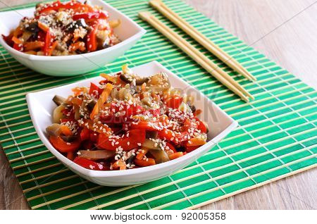 Vegetables In An Asian Style