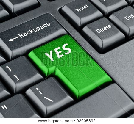 Keyboard Yes Button