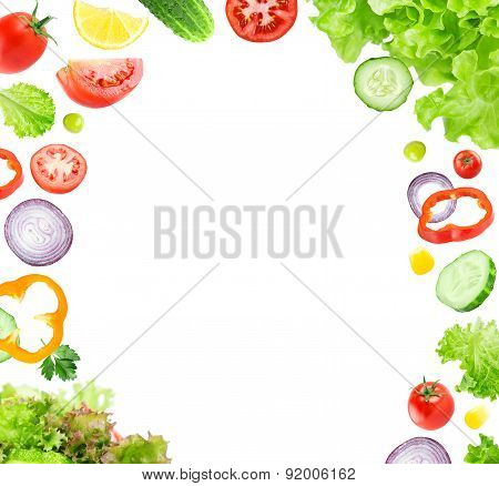 Mixed Falling Vegetable Slices