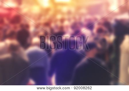Blur Crowd Of Peole Concept