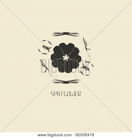 Logo design template in oriental style