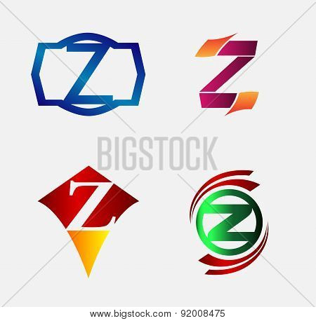 Set of Decorative Letter z - Icons Logo and Elements