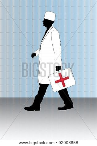 Doctor With First-aid Kit.