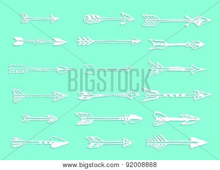 Set Of Hand Drawing Arrows