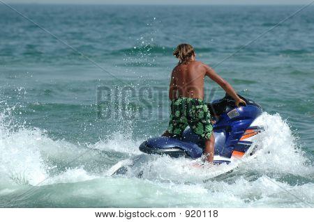 Man And Jet-Ski