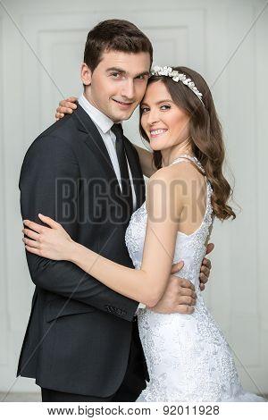Beautiful fashion bridal couple
