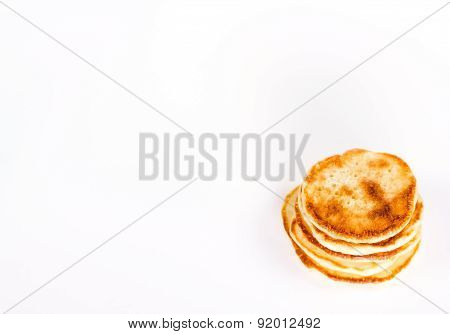stack of pancake isolated on white background