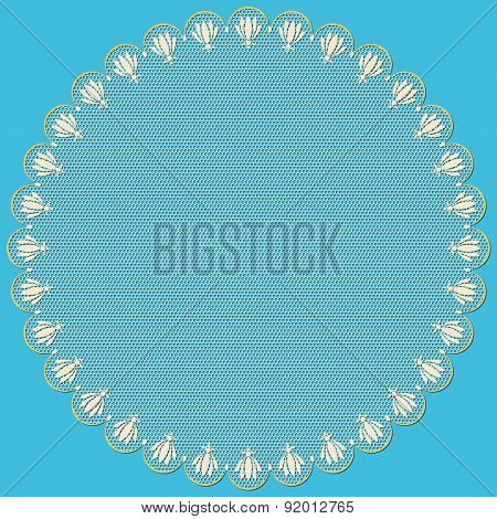 Round Lacy Frame.