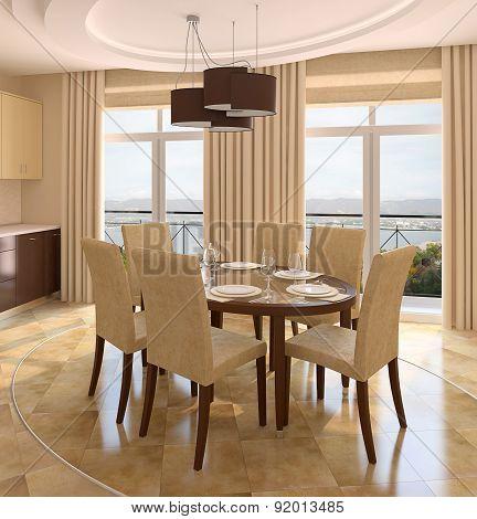 Modern Dining-room.