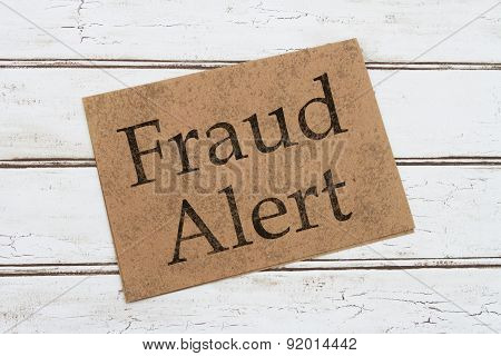 Fraud Alert Warning Card