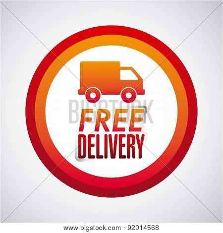 Delivery design over gray background vector illustration